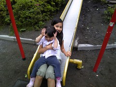 sliding with random nechan @ the park