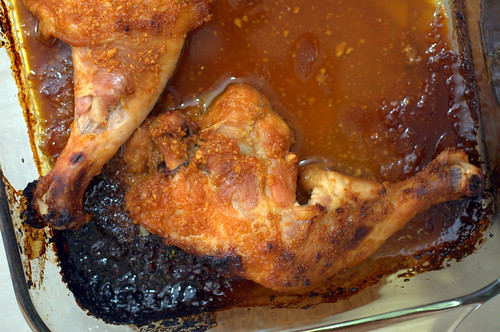 apricot-glazed sriracha chicken