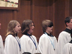 Wearing Irlen lenses during Tulsa Boy Singers spring 2009 concert