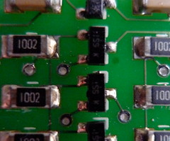 bi-directional level converter board closeup
