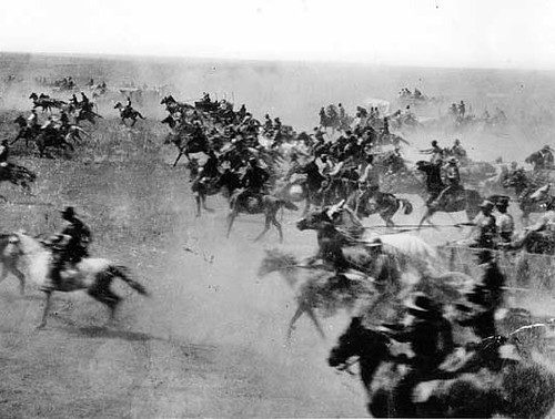 About 120 years after the Oklahoma Land Rush of 1889, were scrambling again - this time for Facebook Page vanity URLs (image via Wikipedia).