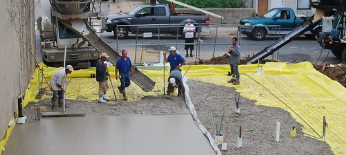 Passive Project Foundation Crew Pouring