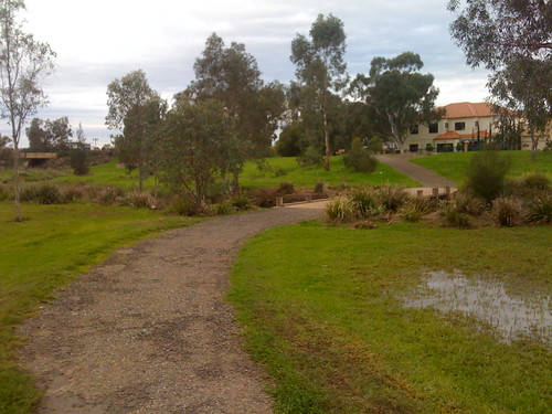 Walking the Mawson Lakes bike trail