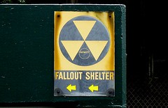 Fallout Shelter sign, Portland, Oregon