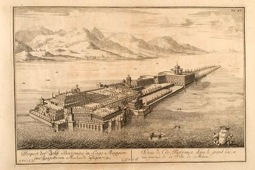 016- La isla Borromea cerca de la ciudad de Milan-Entwurf einer historischen Architektur 1721- © Universitätsbibliothek Heidelberg