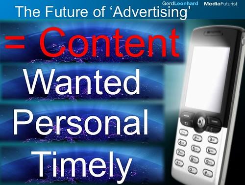 Werbung sollte Content sein
