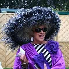Fab hat at Royal Ascot (ec1jack) Tags: uk england flower hat fashion lady purple britain traditions ascot horseracing berkshire canoneos350d royalascot bighat kierankelly ec1jack