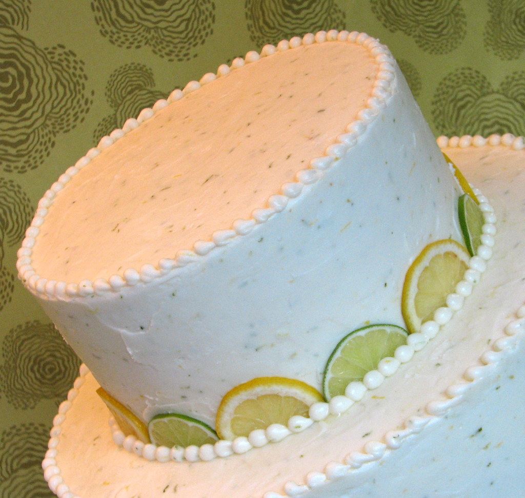 Fresh Lemon-Lime Wedding Cake