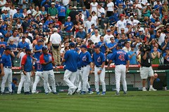 Congrats to Randy Wells on his 1st Win (mikepix) Tags: chicago baseball cleveland indians cubs wrigleyfield 2009 bullpinbox