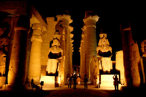 Ramesses II and columns