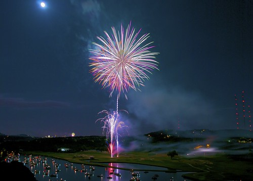 Double Explosion, Lake Austin Fireworks on Flickr