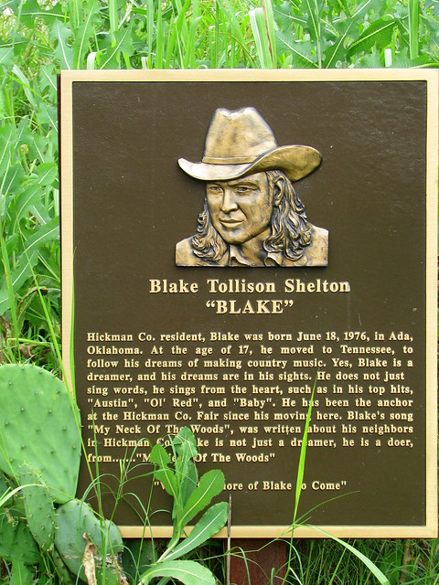 Blake Shelton plaque