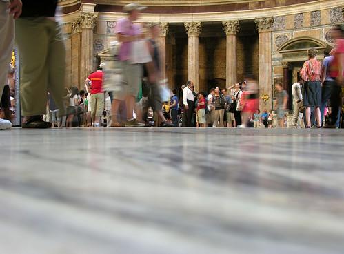 Floor-level crowd shot in the Pantheon