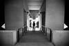 Left or right... (janbat) Tags: bw paris france wall nikon women triangle europe femme nb tokina d200 carole mur f4 escalier 1224 garedelyon jbaudebert rollk