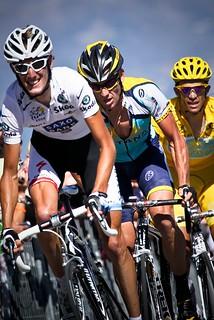 Andy Schleck, Lance Armstrong, Alberto Contador