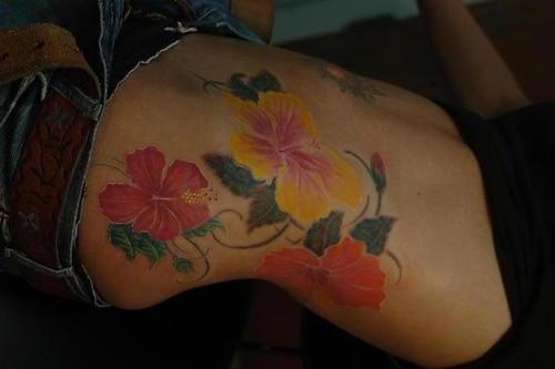 Hibiscus Flowers Tattoos