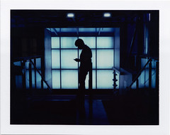Symmetrical silhouette at the BFI (Rhiannon Adam) Tags: silhouette architecture symmetry vintagecamera nationalfilmtheatre bfi instantfilm ilovefilm britishfilminstitute graphicphoto artificallight polaroid180 iduv peelapartfilm longlivepolaroid colourpolaroid filmicimage
