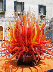 Flaming glass (picqero) Tags: travel venice sculpture orange art glass colourful murano shinything rubyphotographer dragondaggerphoto