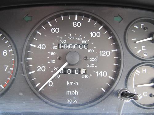 Mileage Milestone for Mazda 323F