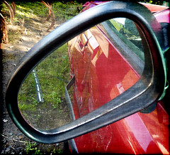 Rear-view mirror by Scottish Rose, on Flickr