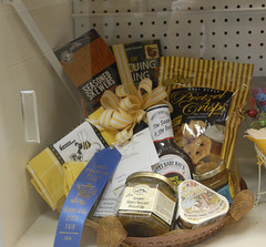 Honey basket blue ribbon