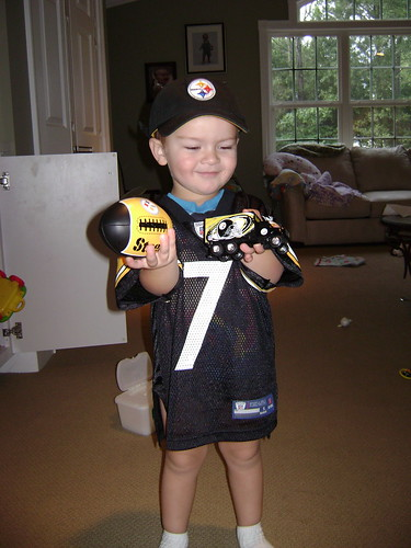 Jimmy loved his Steelers goodies