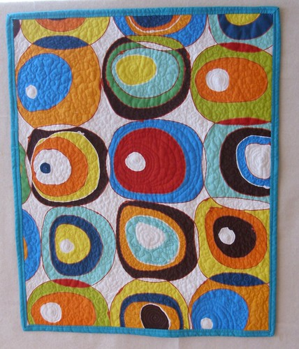 Quilted Colour Study Art Quilt