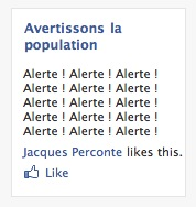 Avertissons la population