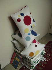 Pile of Polka Dot Pillows