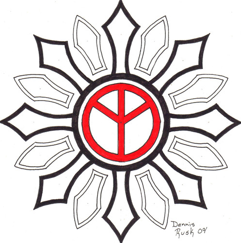tatuaże wzory znak pokoju