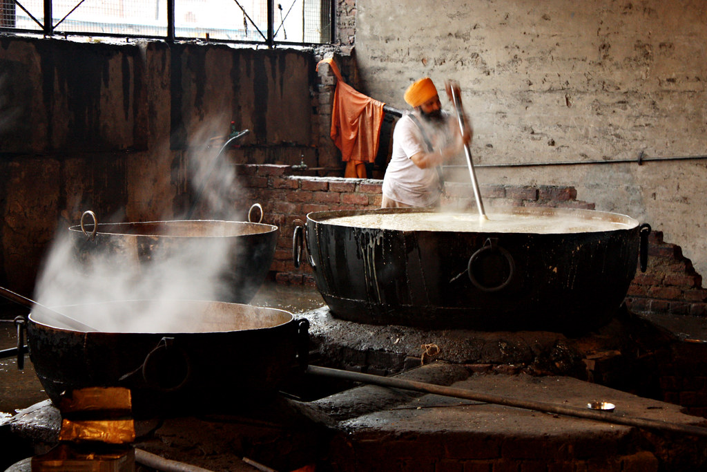 Stirring the dhal