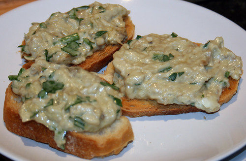 Moutabal on toast