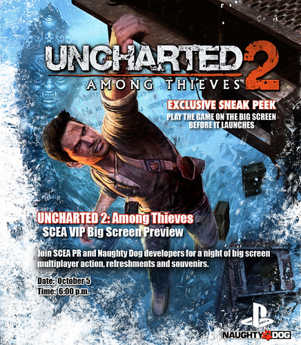 UNCHARTED 2 Cinema Invite