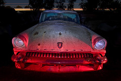 Tortilla Flat (Lost America) Tags: lightpainting abandoned 1955 night mercury fullmoon junkyard nocturnes thebigm