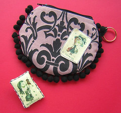 """Purse- letter V """"Voyager"""" and Brooch- letter B """"Butterflay"""" (cicoria ..."""