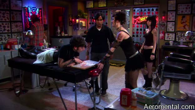 The Big Bang Theory S03E03 tatuaje Howard