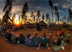Sunset in Aihki (Timo Vehviläinen) Tags: sunset summer suomi finland scout scouting kesä leiri heme kesäleiri partio jämijärvi piirileiri aihki päpa iltanuotio pääkaupunkiseudunpartiolaiset