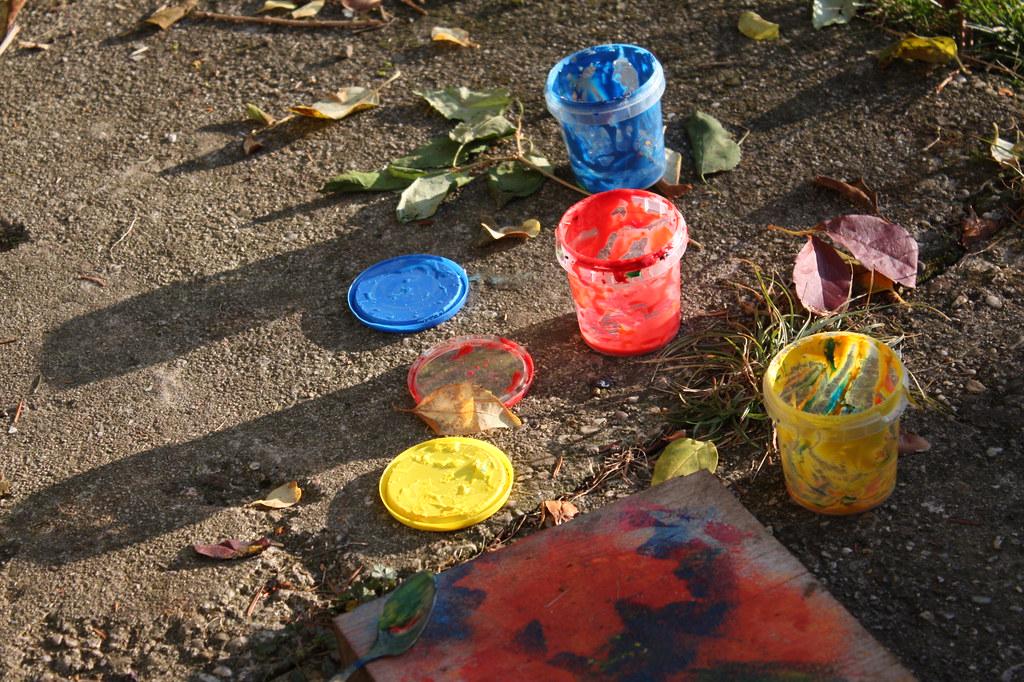 Sonne ausnutzen zum outdoor- kreativ- sein ...