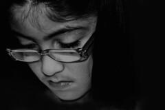 Education Matters (Lady_Don :: ELITES::) Tags: portrait bw girl canon glasses kiss silent sad bn lonely xsi 450d educationmatters saveourchildren