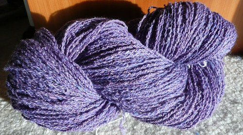 5-ply chain-plied corriedale-fin-ramboullet with sparkle