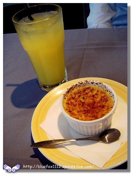 091112綠風莊園餐廳13_柳橙汁&法式烤布蕾