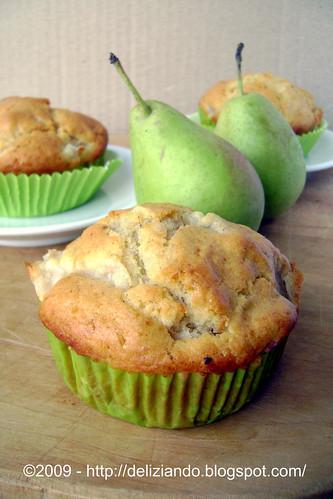 Muffins alle pere, zenzero e cannella