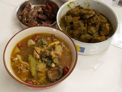 Chop Suey, Chicken Curry, and Waxed Meat