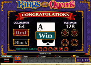 free Kings and Queens gamble bonus game
