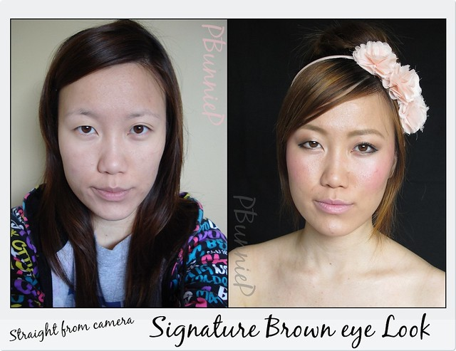 Signature Brown eye Look--Before/after