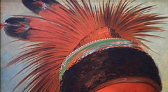 George Catlin, The White Cloud, Head Chief of the Iowas (detail of headdress), 1844-45