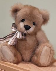 Mink Fur Teddy Bear (kimbearlyoriginal) Tags: minkbear mink bear teddy ooak original kimbearlys handmade artistmade