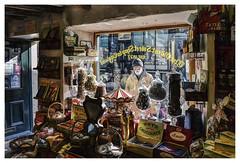 The Oldest Sweet Shop in England (Digital Wanderings) Tags: oldestsweetshopinengland sweetshop oldfashioned sweets shop candy candystore old elderly man england retrosweets fryschocolate pateleybridge northyorkshire harrogate reminisce