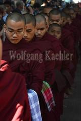 30099732 (wolfgangkaehler) Tags: 2017 asia asian southeastasia myanmar burma burmese mandalay mahagandayonmonastery mahagandayonmonastary people person monks buddhist buddhistmonasteries buddhistmonastery buddhistmonk buddhistmonks almsceremony almsbowls meal