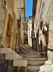David Pulju (David Pulju) Tags: davidpulju david pulju abruzzo italy europe architecture travel mountain city town village ghost maze stairs contours doors abandoned lines vertical